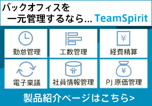 TeamSpirit製品ページ