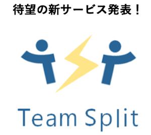 【ニュースリリース】新サービス「チームスプリット」を発表!